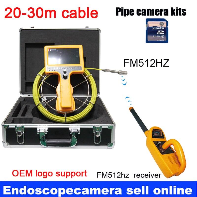 Super 30 m waterdichte DVR Afvoer Riool Inspectie Video Camera FV-22