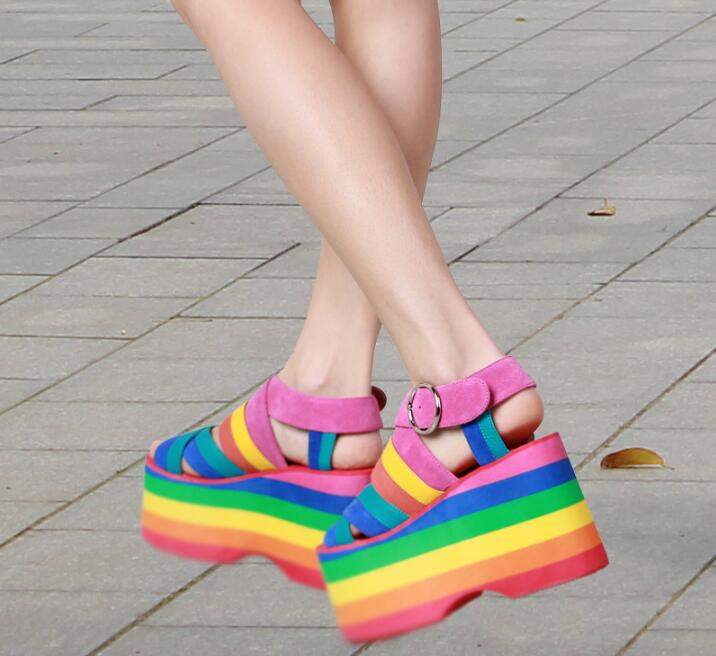 Vestido Roma Zapatos Coloridas Verano De Estilo 2017 Tacones Picture n0OPwkX8
