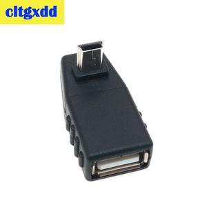 Image 2 - Cltgxdd USB dişi Mini V3 USB Erkek 90 Derece Aşağı doğru Açı Sol Açılı OTG Adaptörü için Araba AUX Tablet Siyah Konektörü