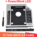 Alumínio Universal HDD caddy 12.7mm SATA 3.0 Adaptador DVD HDD para 2.5 ''7/9/9.5/12.5mm SSD Optibay Caso Hdd CD-ROM
