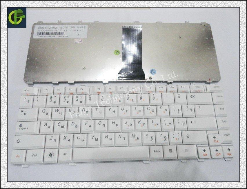 Ryskt tangentbord för IBM Lenovo Ideapad Y450 Y450A Y450AW Y450G Y550 Y550A Y550P Y460 Y560 RU VIT laptop tangentbord