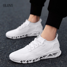 hot deal buy 2018 new blade warrior fly weaving mesh stretch trend men's shoes fashion shock leisure sports shoes men's shoes sizi 39-44