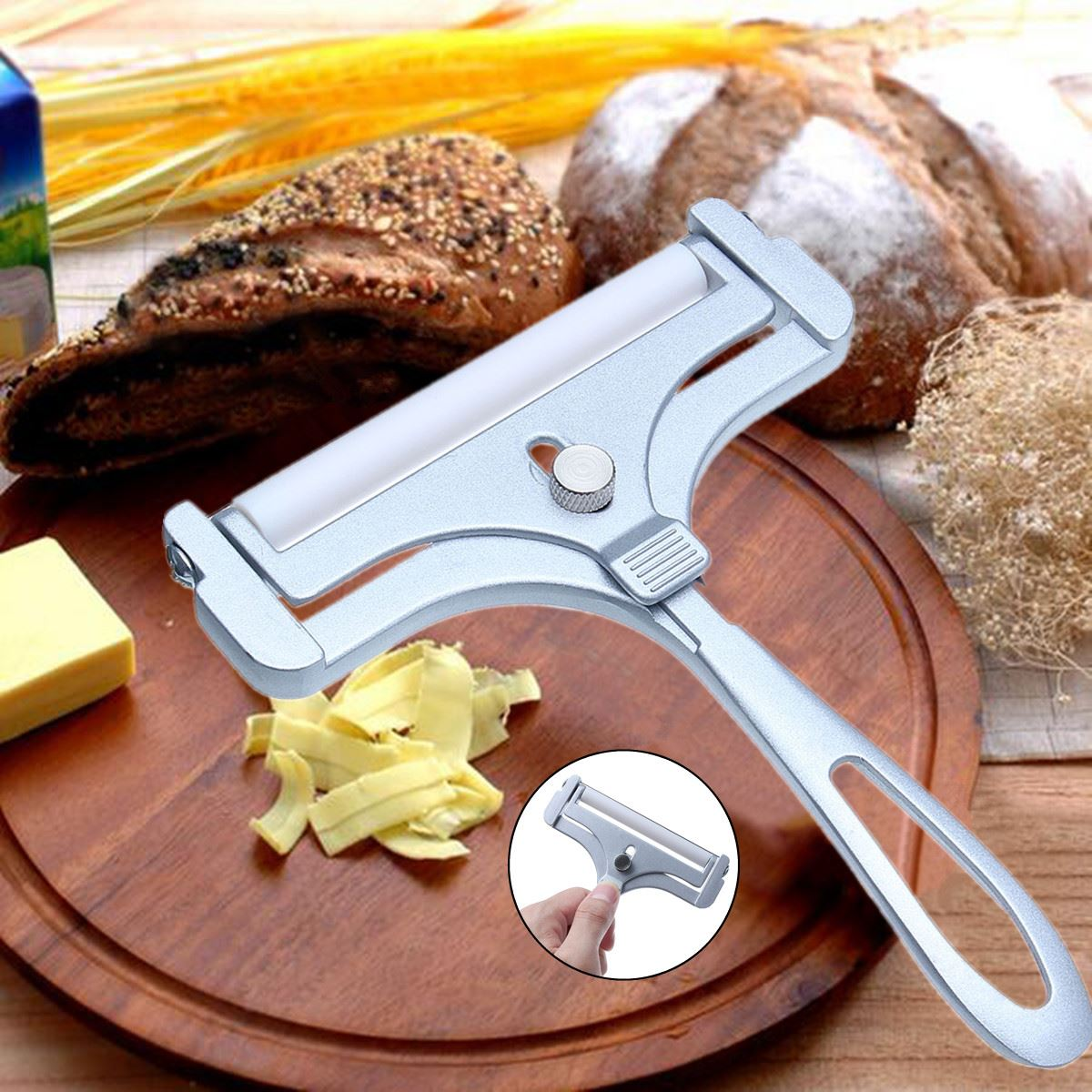 <font><b>Adjustable</b></font> <font><b>Cheese</b></font> <font><b>Slicer</b></font> Cutter Zinc Alloy <font><b>Cheese</b></font> <font><b>Slicers</b></font> Knife Butter Grater Home Kitchen Baking Cooking Tools Kitchenware image
