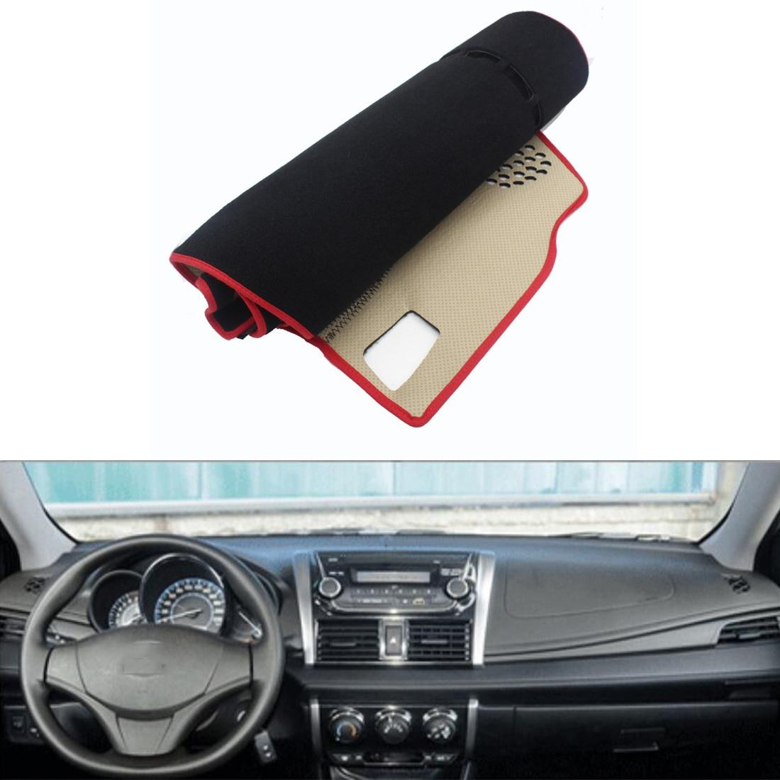 For toyota vios 2014 2016 car dashboard avoid light pad instrument platform desk cover mat