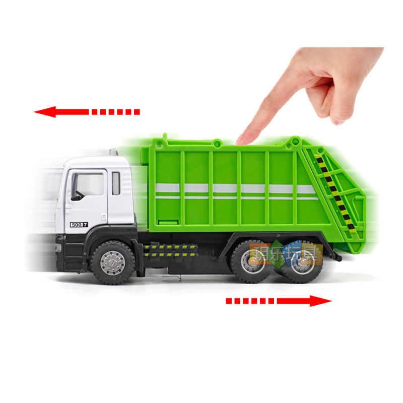 1:32 diecast דגם רכב כלי רכב פח אשפה משאית זבל בויז הילדים צעצוע מתנת אוסף דגם רכב diecast מתכת toys l60