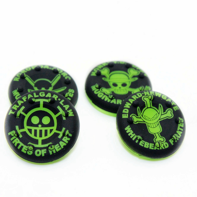 Green skull Analog Grips Thumbstick Cap Cover For PS4 Thumb Stick Cap Game Accessories