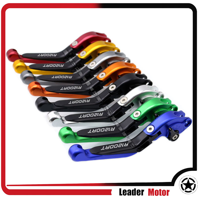 For BMW R1200RT R 1200RT 2014 2015 2016 2017 Motorcycle Folding Extendable Brake Clutch Levers 20 Colors LOGO R1200RT billet alu folding adjustable brake clutch levers for motoguzzi griso 850 breva 1100 norge 1200 06 2013 07 08 1200 sport stelvio