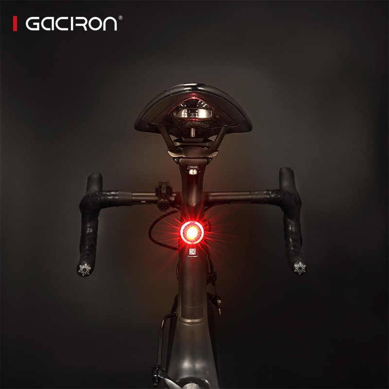 be90c75f4 ... Gaciron bicicleta de carretera bicicleta a prueba de agua luz trasera  Mini Led Usb recargable bicicleta ...