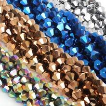45 sztuk/partia Mix kryształ AB kolory Shinning Multicolor 6mm Austria faceted kryształowe koraliki luźne Spacer kule do biżuterii