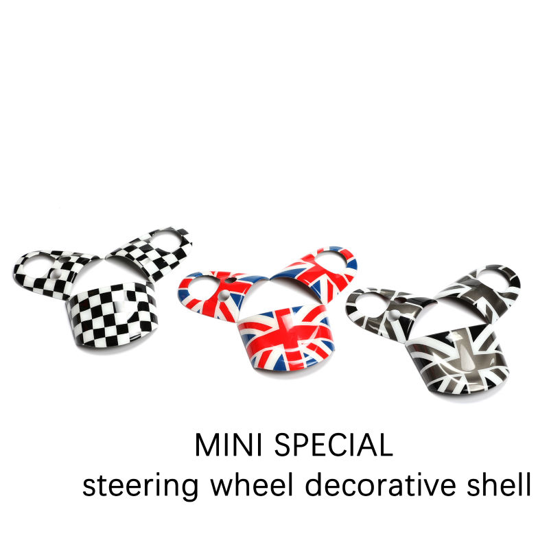For Mini Cooper Steering Wheel Cover Interior Decoration Accessories Stickers for R55 R56 R57 R58 R59 R60 Clubman Countryman 10x car wheel snow chains for mini cooper r56 r50 r53 f56 f55 r60 r57 for alfa romeo 159 147 156 166 gt mito accessories