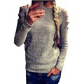 Women Casual Hollow Long Sleeve Knitted Sweater Crochet Tops Shirts Fall Hot Sale