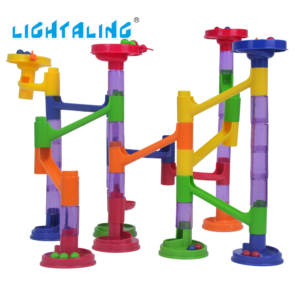 Lightaling Enlighten Marble Run Intellect Ball Educational Tracks Game Maze Balls Children Building Sets Puzzle Children Toys