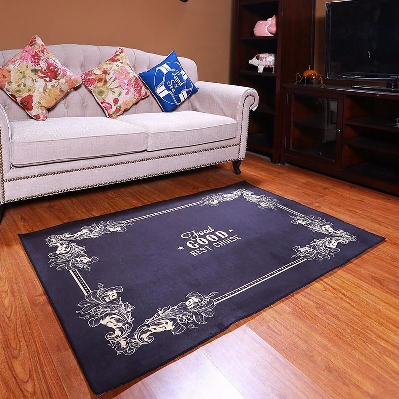 Slip moderne tapis noir pour salon chambre salon tapis solide enfants chambre jouer tapis salle de bain tapis antidérapant tapete usage domestique