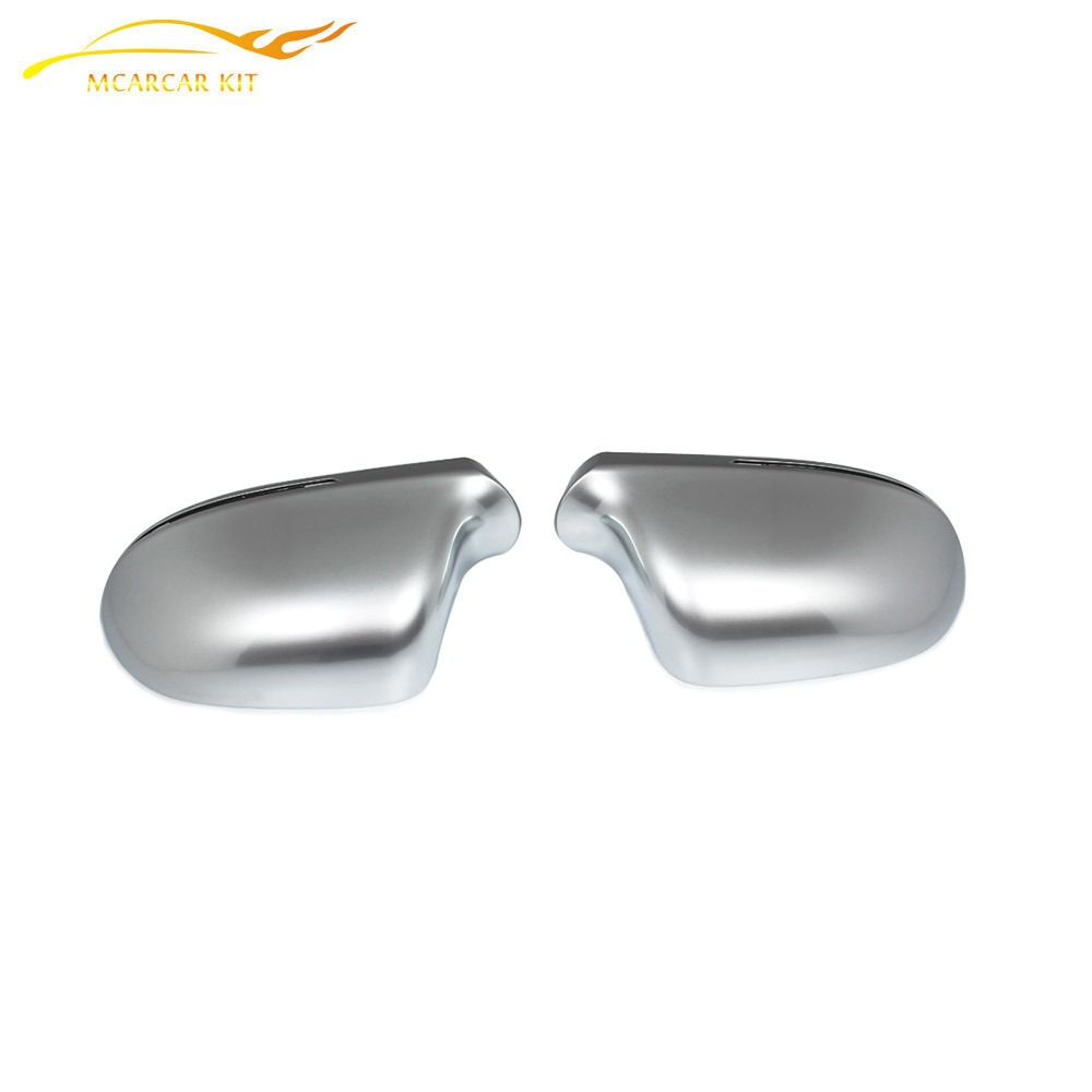Matt Chrome Replacement style Side Mirror Covers For Audi A4 B8 2009-2012 A6 2008-2011 without Side Assist Rearview Mirror Caps