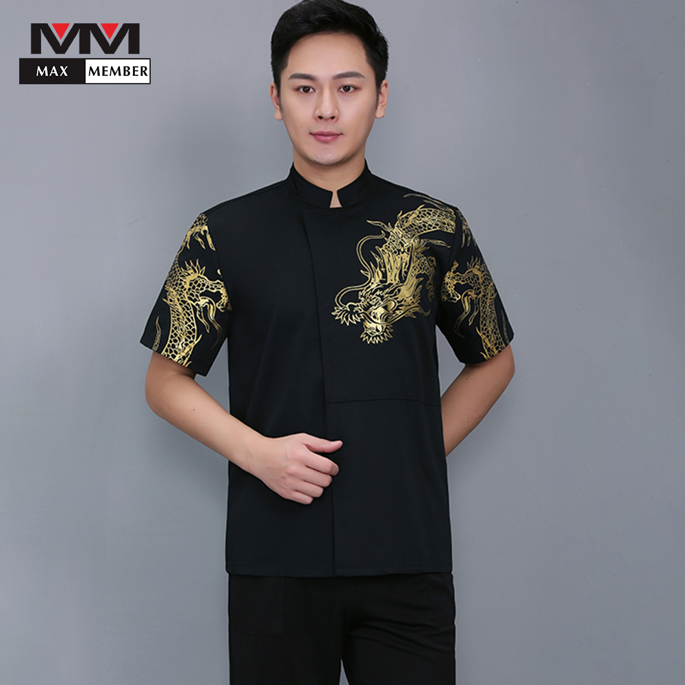 Clothes Short-sleeved Chef Clothing Uniforms Hotel Restaurant Kitchen Top Quality New Cook Suit Comfortable Breathable Work Wear