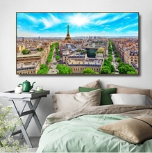 Urban Landscape of Paris Canvas Painting & Calligraphy Poster Print Living Room House Wall Decor Art Home Decoration Picture