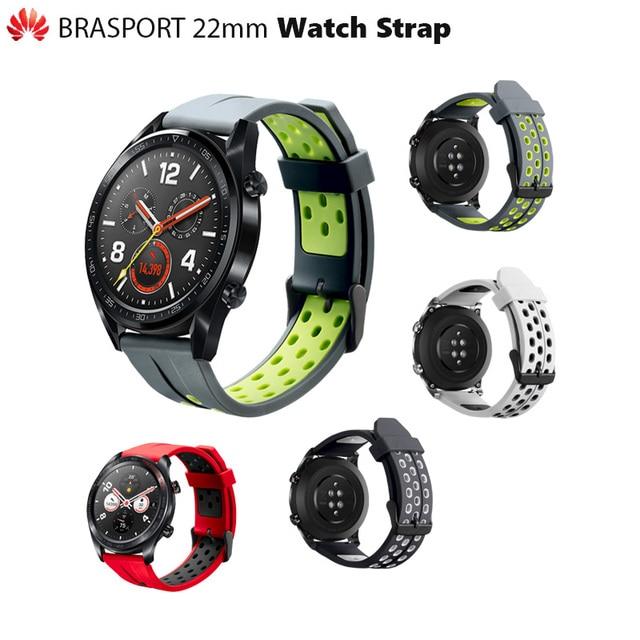 """מקורי Huawei Brasport סיליקה שעון רצועת שעון GT/כבוד שעון קסם/שעון 2 פרו אפשריים אחרים 22 מ""""מ יציאת שעון"""