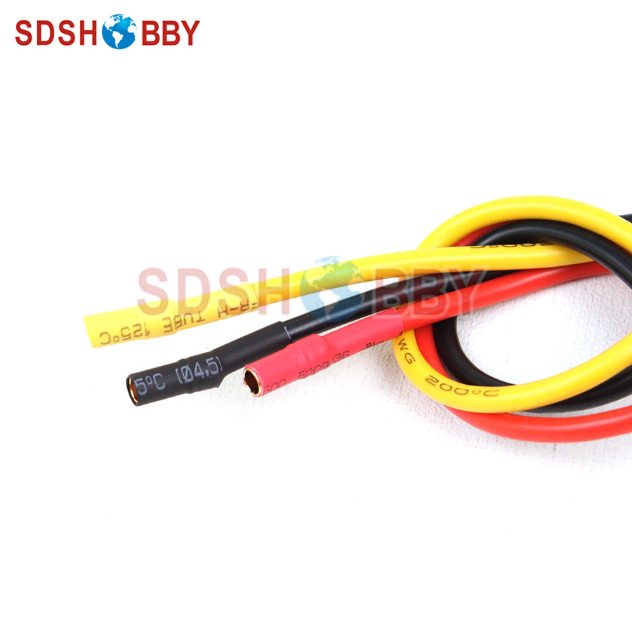 3pcs 3.5 mm GOLD Bullet Connecteur Brushless Motor ESC Câble d/'extension 14AWG FR contrôle radio