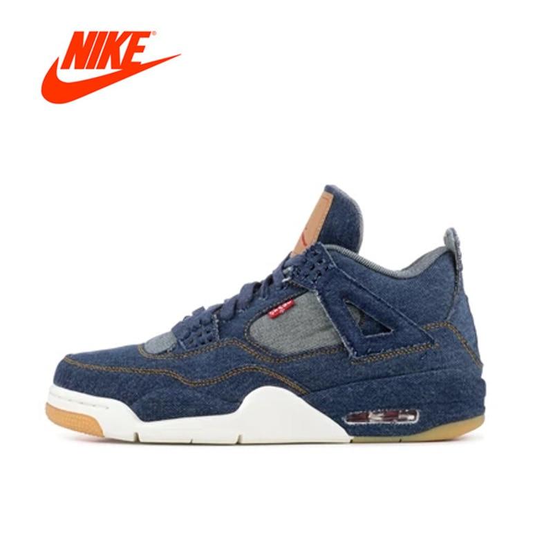 Официальный оригинальный nike Air Jordan 4 AJ4 Для Мужчин's Баскетбол обувь AO2571-401
