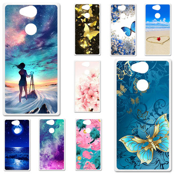 TPU Cases For Sony Xperia XA2 Case Silicone Floral Painted Bumper For Sony  XA2 H3113 SM12 5.2 inch Phone Cover Soft Back Fundas