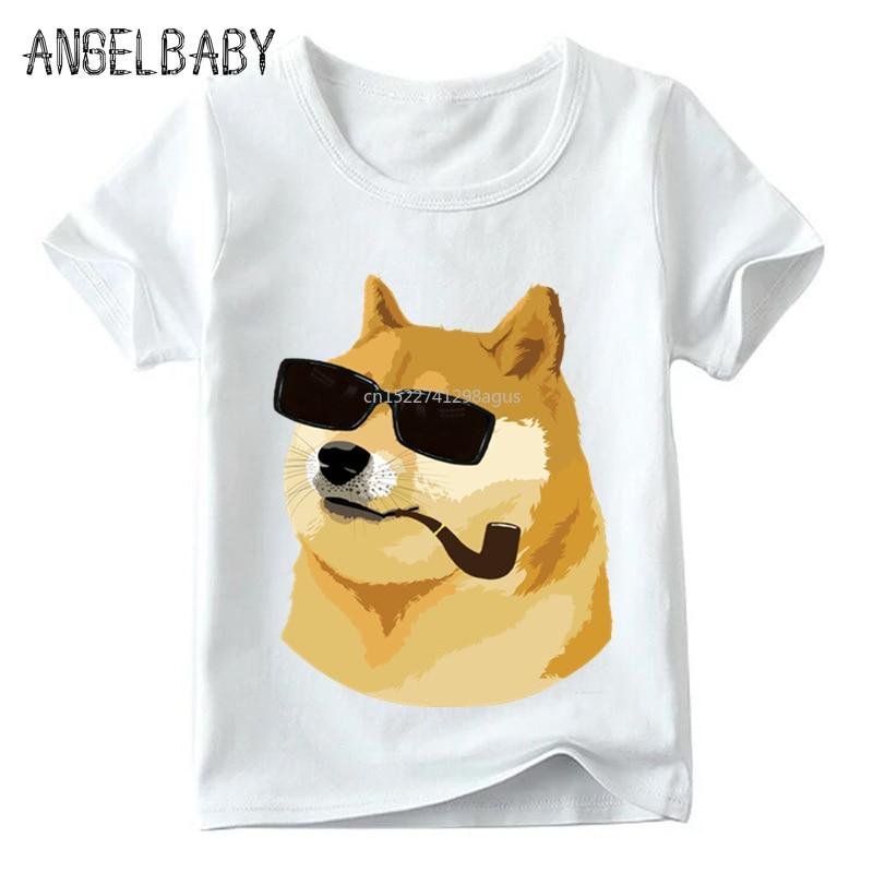 Children Doge Deus God Dog/shiba Inu Print Funny T shirt