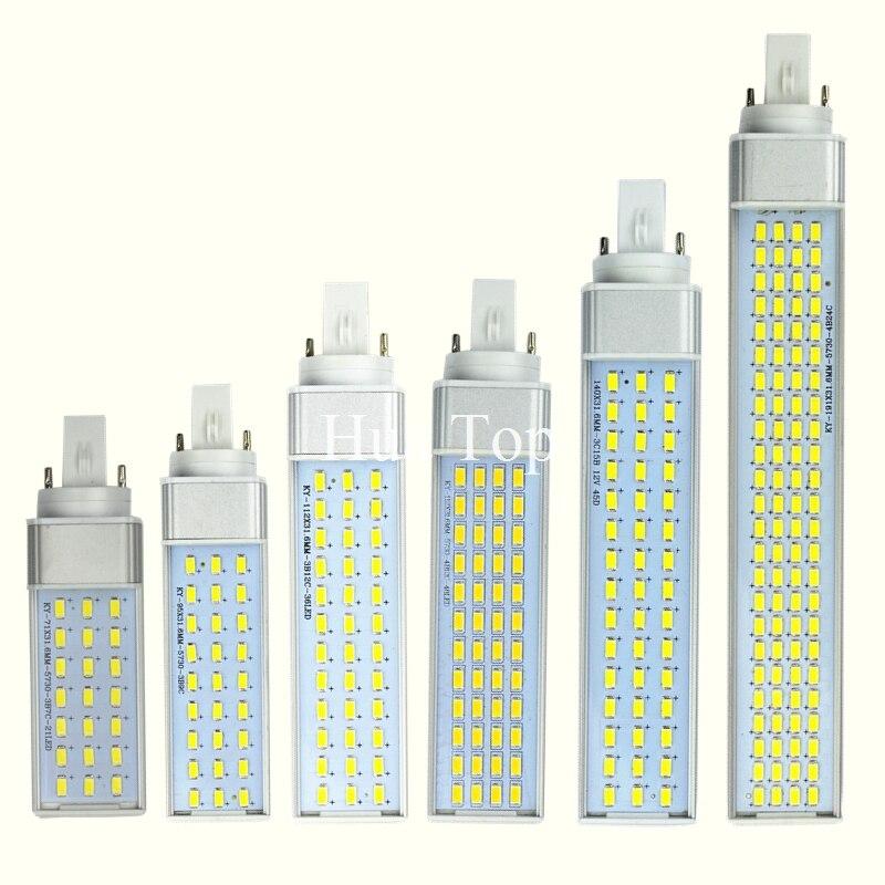 Лампада 8 Вт 10 Вт 12 Вт 15 Вт 18 Вт 30 Вт G23 <font><b>G24</b></font> E27 85 В-265 в/AC горизонтальный разъем лампы SMD5730 Bombillas Светодиодная лампа пятно света ce rohs
