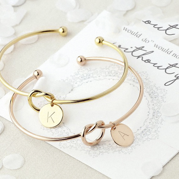 Jewelry-Bracelet Rope-Line Snake-Chain Gifts 26-Letter Gold/silver-Alloy Women DIY Fit-For