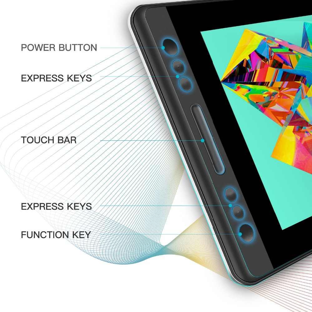 Huion kamvas プロ 13 GT-133 デジタルペンタブレットモニターデジタルタブレットバッテリーフリーペンディスプレイ描画モニターチルト func ag ガラス