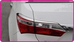 Wyższa gwiazda ABS z Chrome 4 sztuk samochodów taillight dekoracji wykończenia  tylna lampa pokrywa dla Toyota Corolla 2014 2017 w Chromowane wykończenia od Samochody i motocykle na