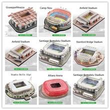 8 stiluri Top European Cluburi de fotbal Locuri 3D Puzzle DIY jucărie Hârtie clădire Model stadion Fotbal Fotbal Assemble Game Gift Set