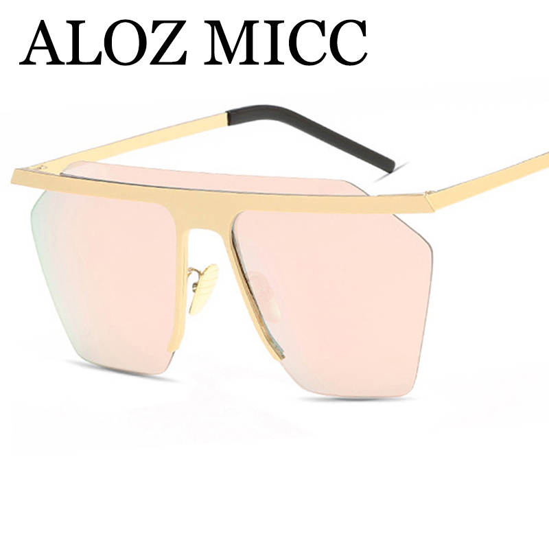 ALOZ MICC High Quality Women Alloy Rimless Luxury Sunglasses Brand Designer Vintage Men Sun Glasses UV400 Shades Oculo Q126