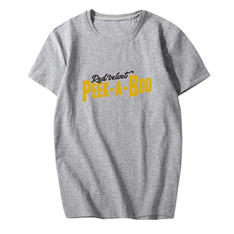 c7e064a1e3d0d3 KPOP Korean Fashion Red Velvet Album Perfect Velvet Peek A Boo Cotton Tshirt  K POP T Shirts T shirt PT647-in T-Shirts from Women s Clothing on ...