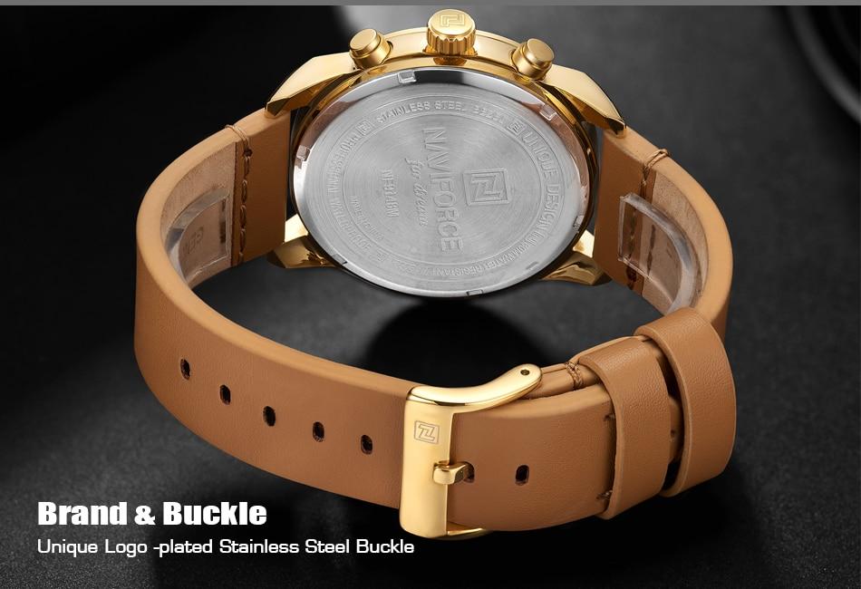 5 Montre à Quartz homme bracelet cuir