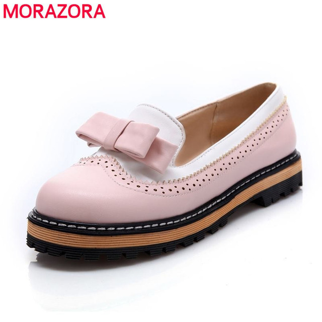 2016 nuevos zapatos de las mujeres estilo dulce plataforma punta redonda de tacón bajo casual bombas de zapatos de fiesta de bodas rosa azul