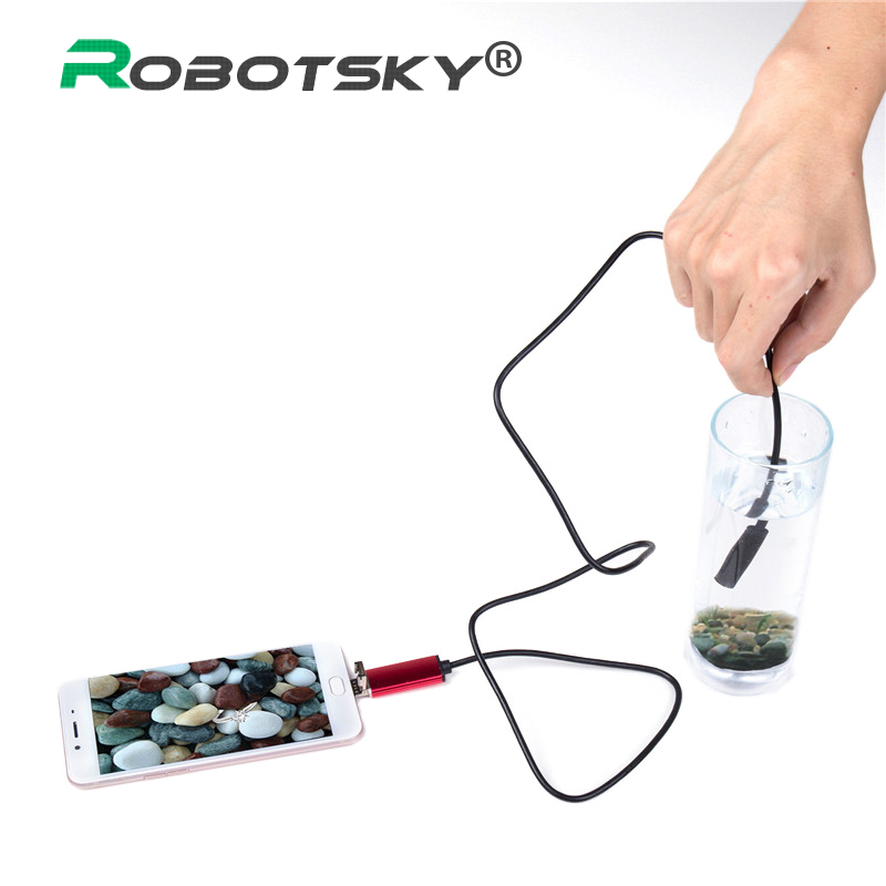 7mm 2 in 1 USB Endoscope 480P HD USB Endoscopio