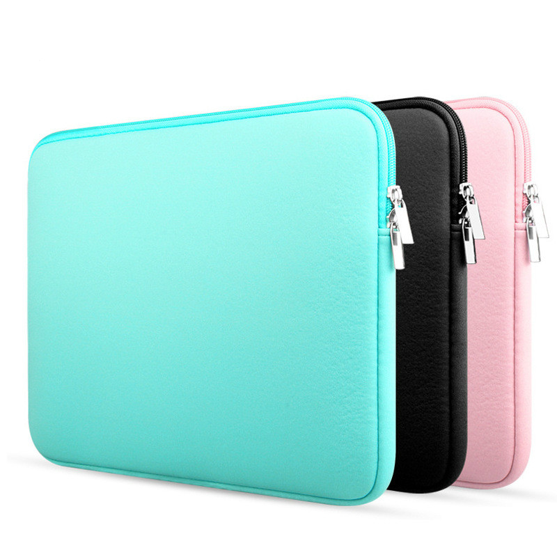 11 12 13 14 15.6 polegada case laptop sleeve para MacBook Air Pro Ultrabook Notebook Tablet computador Portátil Macio Com Zíper saco