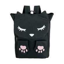 Harajuku Kawaii Cat Backpack Funny Embroidery Cat Claw Large Capacity Casual Travel Bag Teenager Preppy Style School Bag Mochila