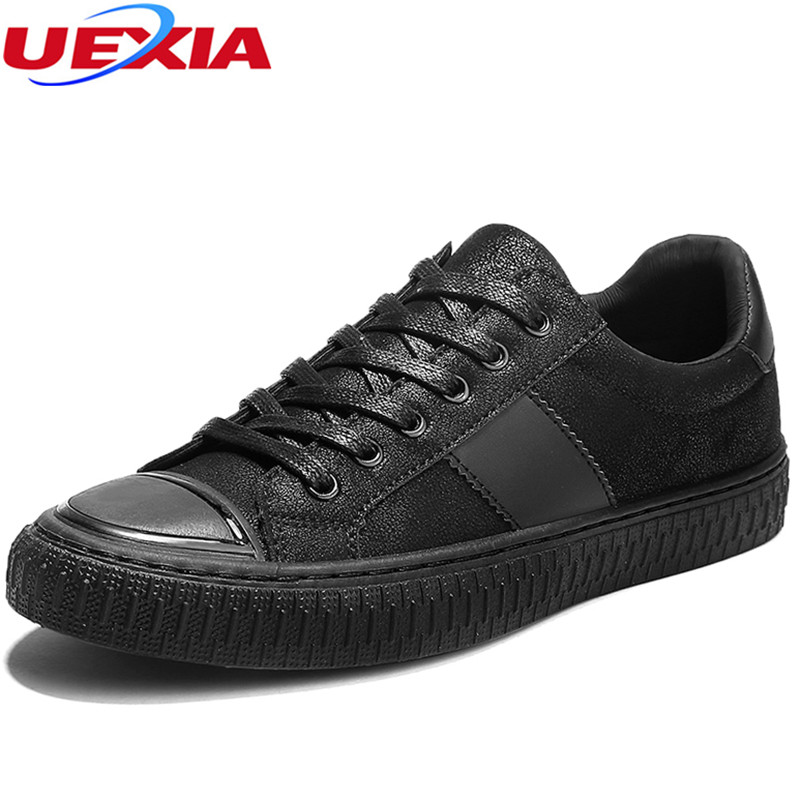 UEXIA New Spring Summer Leather Men Shoes Casual Slip-on Designer Brand Luxury Flats Lesiure Loafers Moccasins Zapatillas Hombre