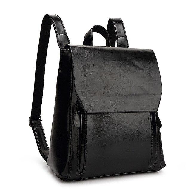 Fashion Women Real Leather Backpack Mochila Lady Genuine Leather Backpacks  Preppy Style Leather School Bag Kanken Backpack a64fef60e6b7e