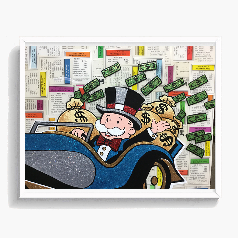 Rich Uncle Man Monopolyingly Street Art MiMo Poster Canvas Painting POP HD Print Oil Wall Picture for Living Room Decor