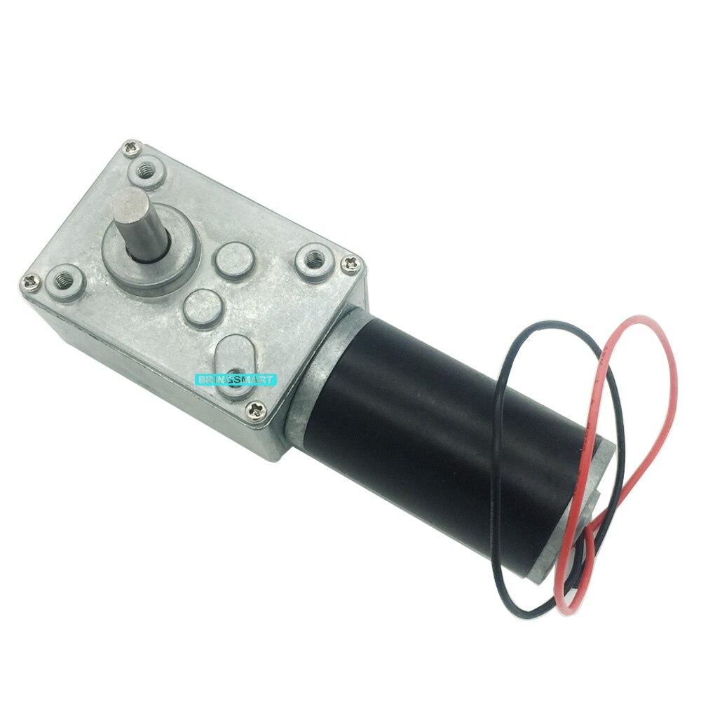 Bringsmart 12V 24V Worm DC Gear Motor High Torque 10
