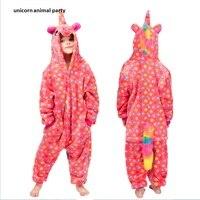 Kigurumi Onesies Cosplay Cartoon Animal Five pointed star unicorn Pajamas Cosplsy Costumes Sleepwear hoodies pokemon costume