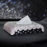 Diamond tissue box napkin holder Kleenex paper towel box Paper Dispenser Universal Car Styling Interior Accessory