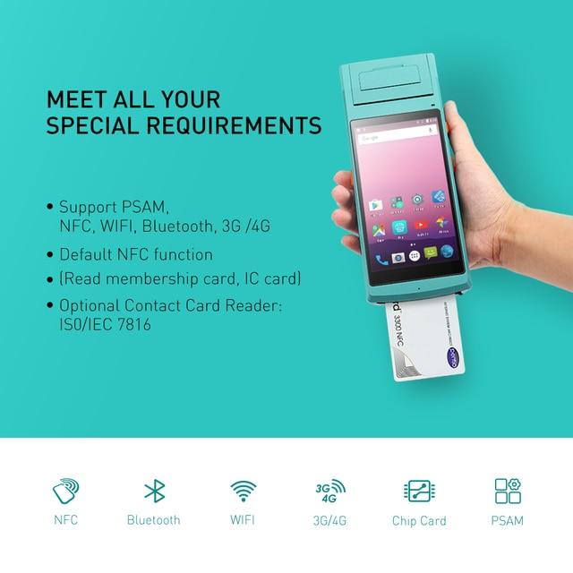 Android PDA Handhled reçu autocollant imprimante POS Terminal 58mm imprimante d'étiquettes thermiques Bluetooth NFC 3G FRFE SDK collecteur de données 2