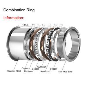 Image 5 - Floya Titanium Rings Black Stainless Steel Ring For Women Wedding Interchangeable Full Zircon Band Bague Femme Acier Inoxydable