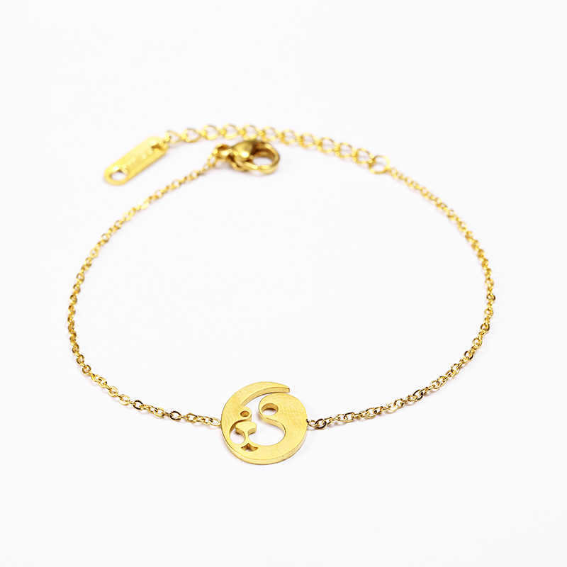 Она Вейер очарование звено цепи браслеты дружбы braclet ручную цепь персонализированные браслет женский роковая девушка собака золото