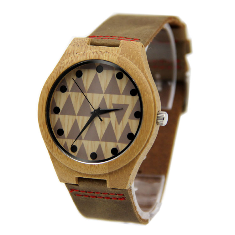 Hot Selling Japanese MIYOTA Movement Wristwatch Genuine Leather Bamboo Wooden Watches For Men And Women wooden