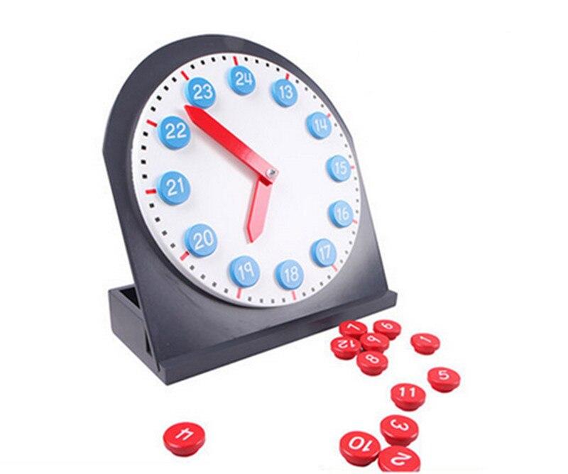 Nouveaux jouets en bois pour bébé Montessori rouge et bleu horloge Mobile numérique bébé jouets éducatifs cadeaux pour bébé
