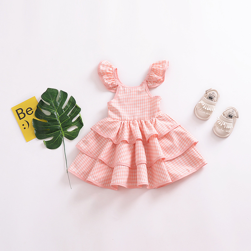 lattice dress Open back cute princess dresses girls baby kids children clothes stripe clothing Christmas party elegant costume in Dresses from Mother Kids