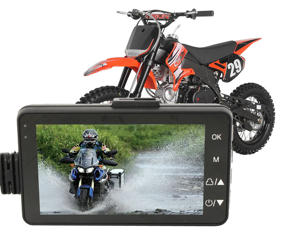 Karadar Motorcycle recorder DVR with front and rear view font b camera b font waterproof font